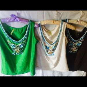 3 for $30 Tops embellished with beads